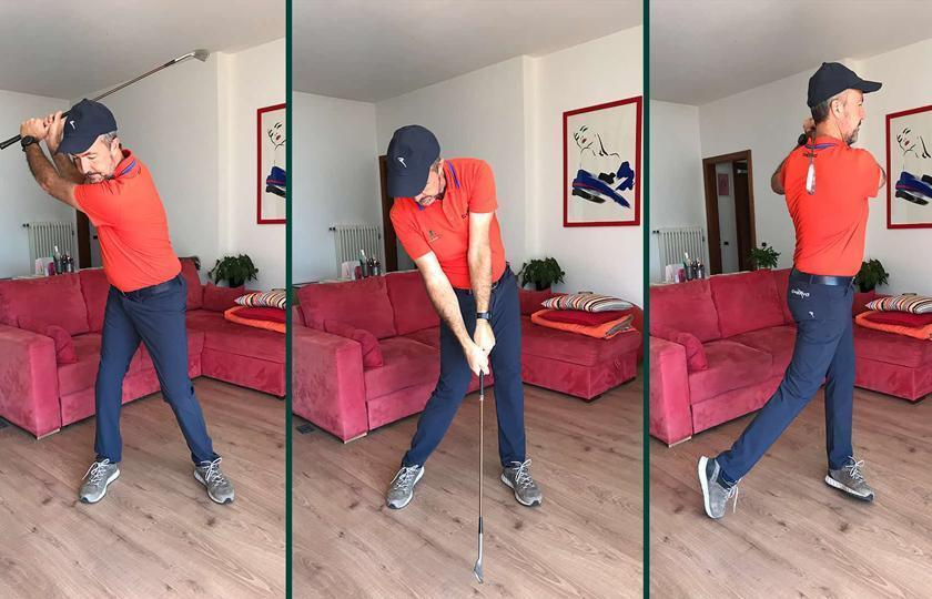 Il tipico giorno del golfista durante il lockdown