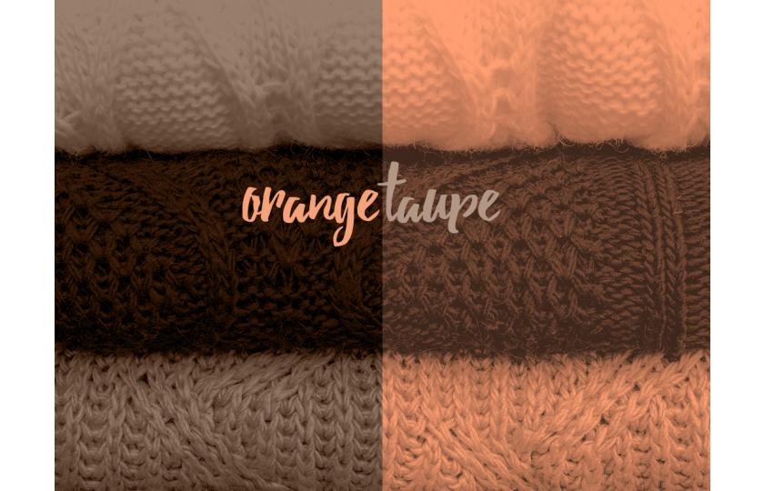 Orange and Taupe: the perfect match!